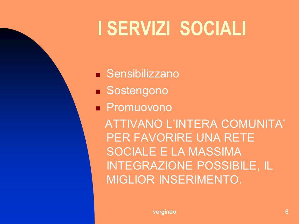 I SERVIZI SOCIALI Sensibilizzano Sostengono Promuovono
