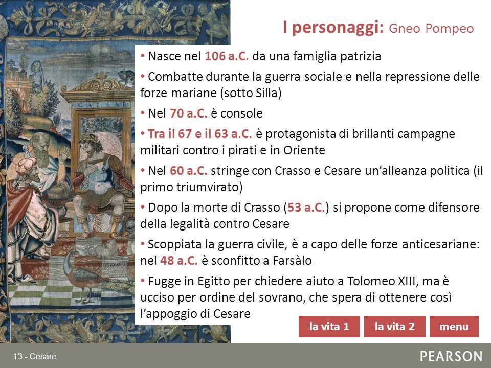 I personaggi: Gneo Pompeo