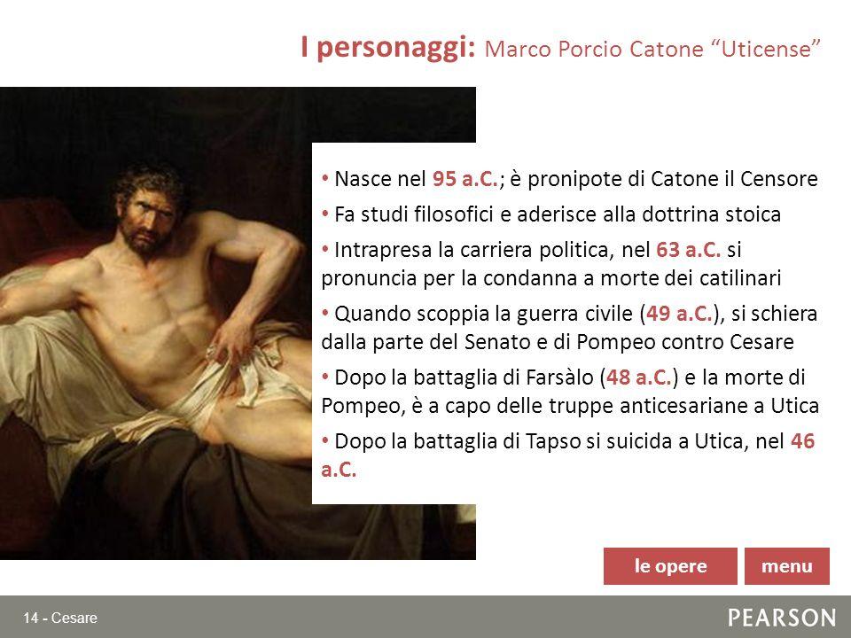 I personaggi: Marco Porcio Catone Uticense