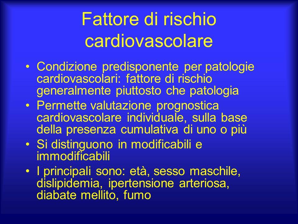 Fattore di rischio cardiovascolare