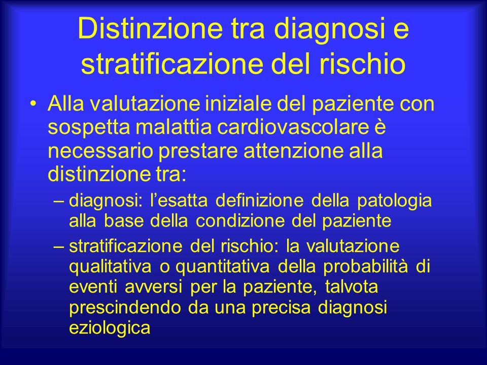 Distinzione tra diagnosi e stratificazione del rischio