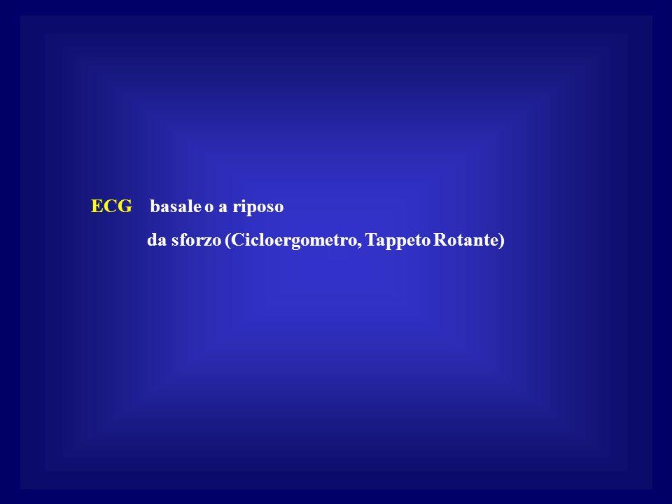 ECG basale o a riposo da sforzo (Cicloergometro, Tappeto Rotante)