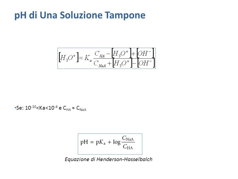 pH di Una Soluzione Tampone
