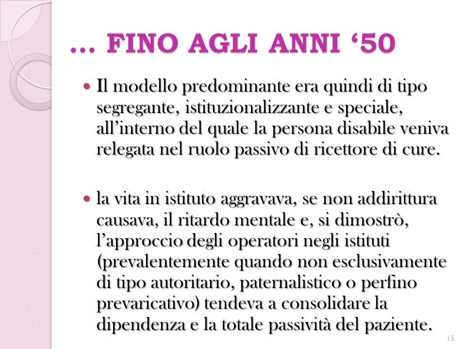 … FINO AGLI ANNI '50