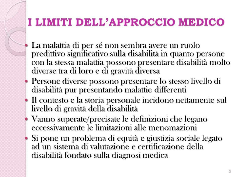 I LIMITI DELL'APPROCCIO MEDICO