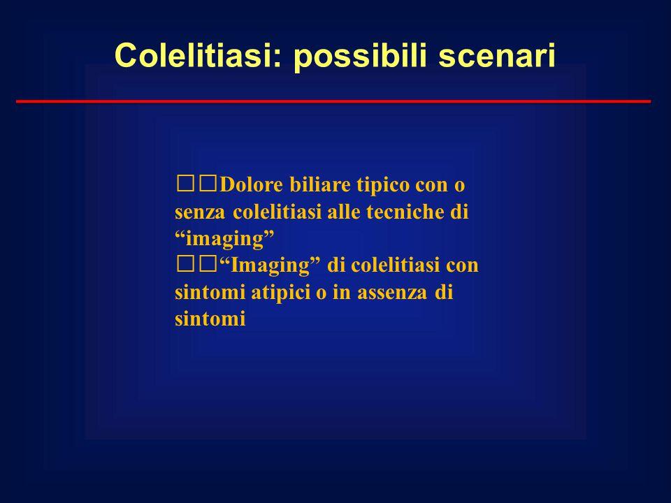 Colelitiasi: possibili scenari