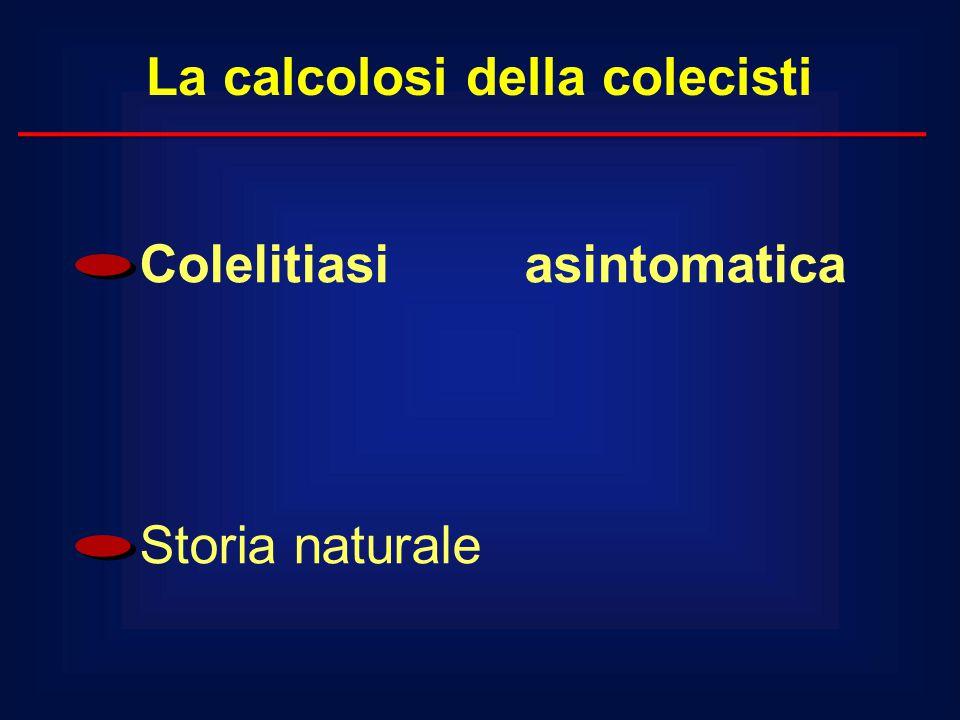 La calcolosi della colecisti