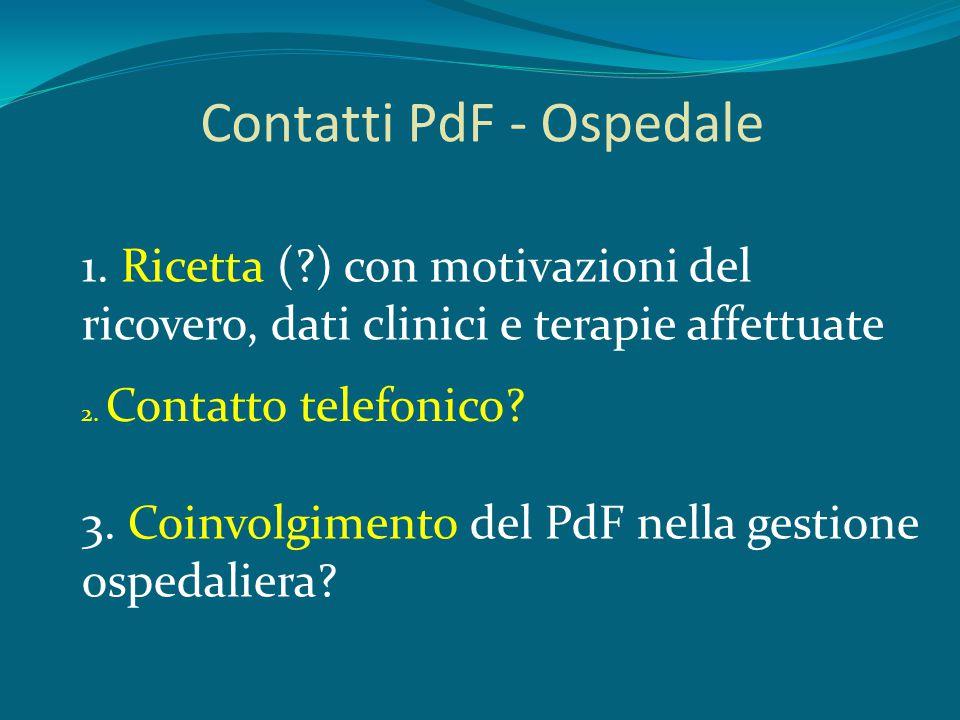 Contatti PdF - Ospedale