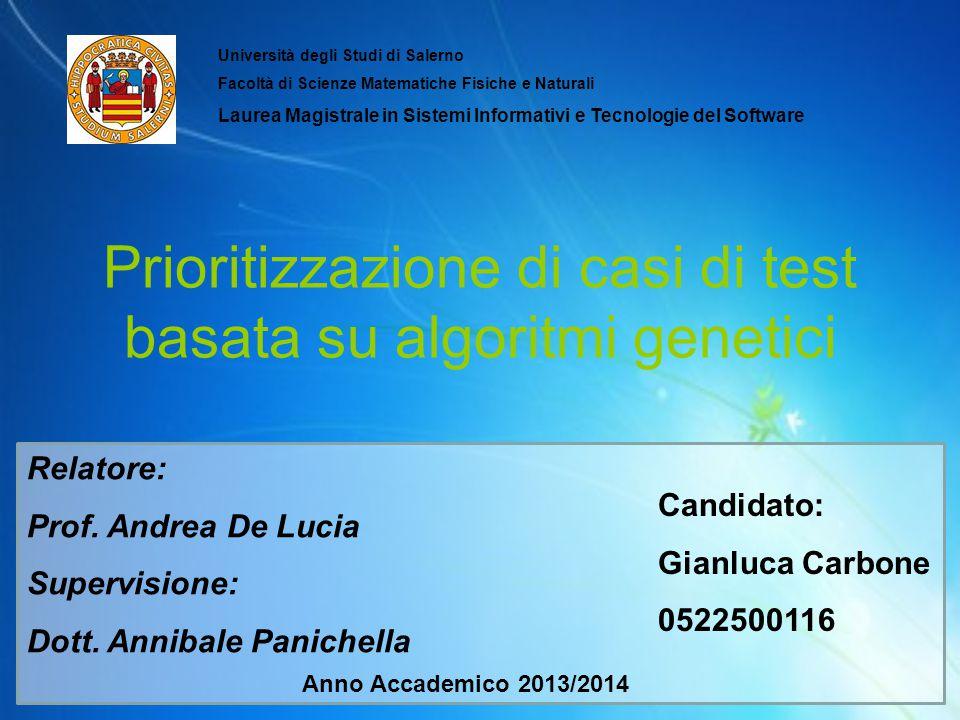 Prioritizzazione di casi di test basata su algoritmi genetici