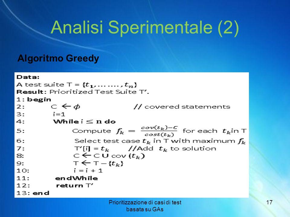 Analisi Sperimentale (2)