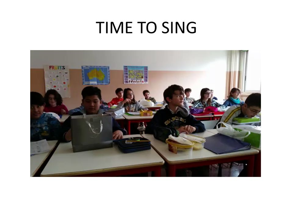 TIME TO SING