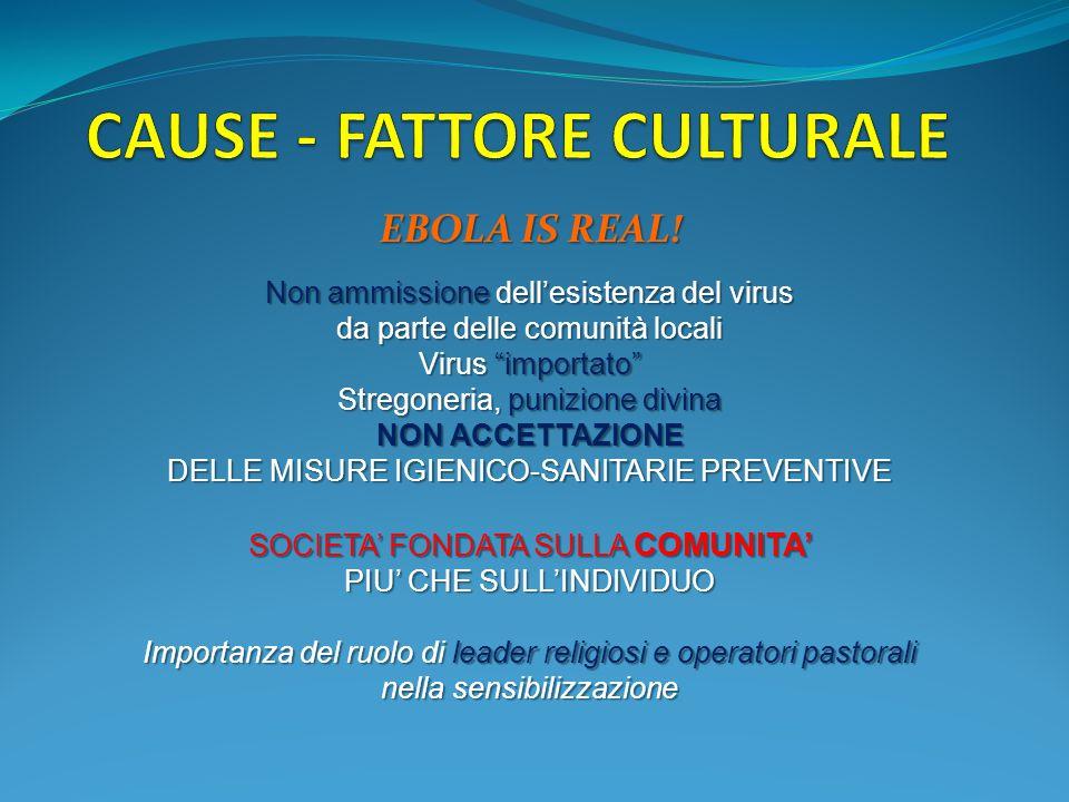 CAUSE - FATTORE CULTURALE