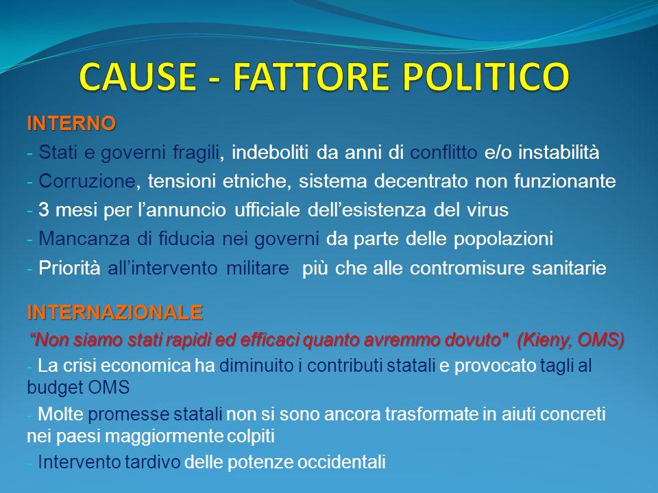 CAUSE - FATTORE POLITICO