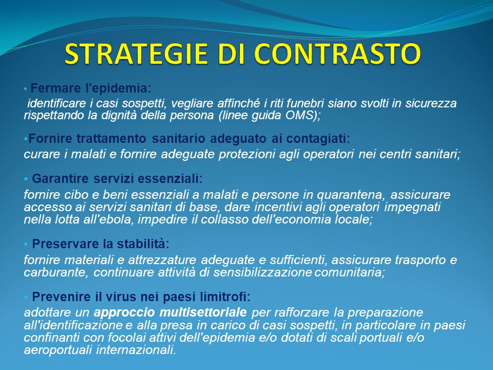 STRATEGIE DI CONTRASTO