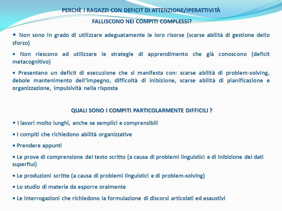 PERCHÈ I RAGAZZI CON DEFICIT DI ATTENZIONE/IPERATTIVITÀ