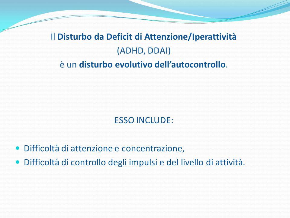 Il Disturbo da Deficit di Attenzione/Iperattività (ADHD, DDAI)