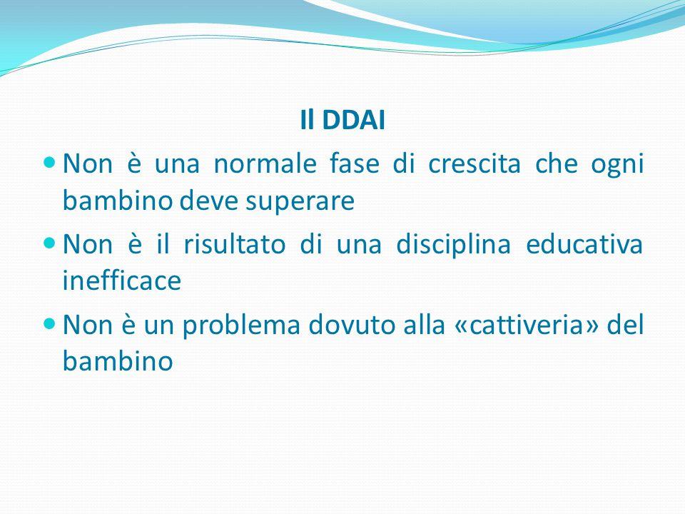 Il DDAI Non è una normale fase di crescita che ogni bambino deve superare. Non è il risultato di una disciplina educativa inefficace.