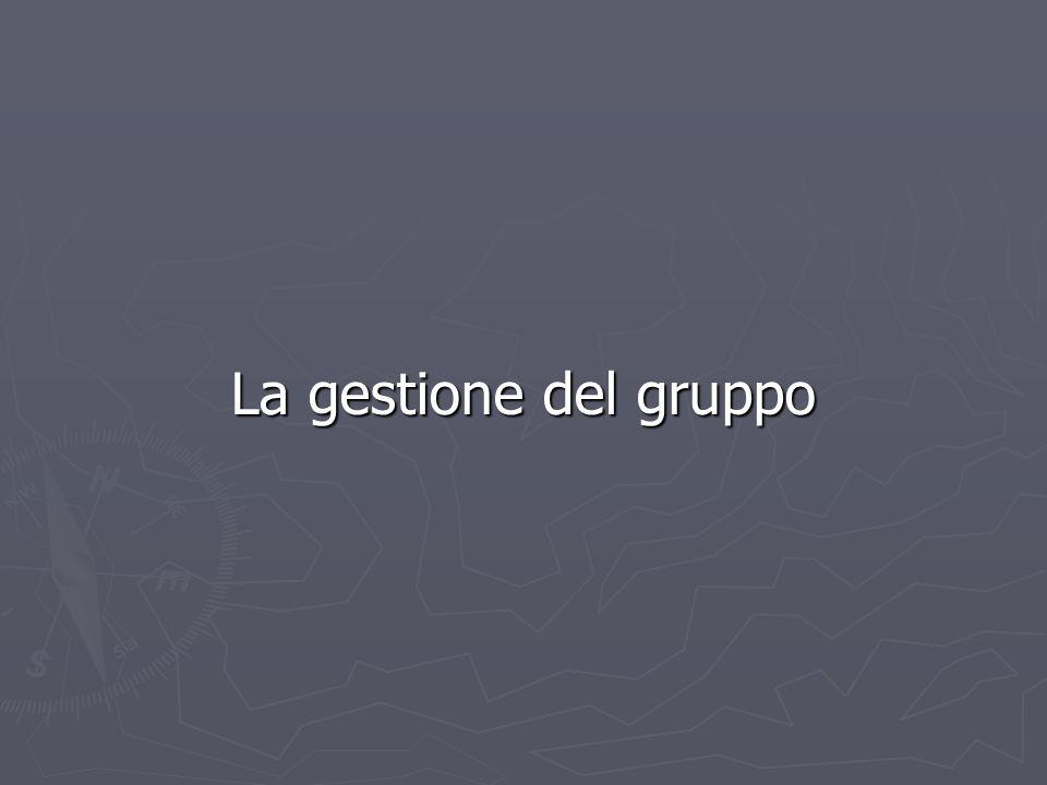La gestione del gruppo