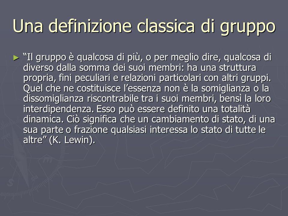 Una definizione classica di gruppo