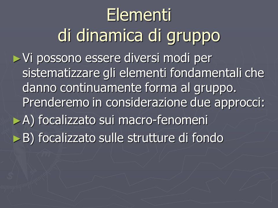 Elementi di dinamica di gruppo