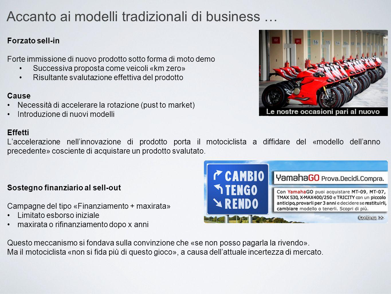 Accanto ai modelli tradizionali di business …