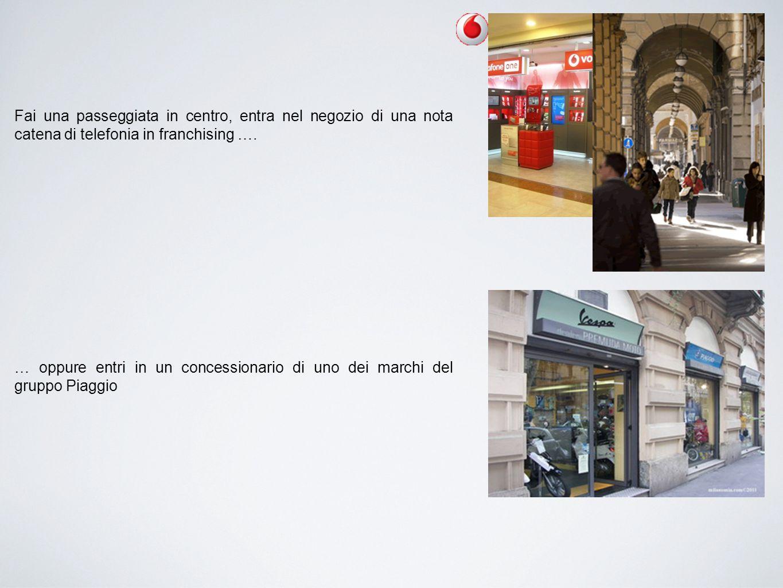 Fai una passeggiata in centro, entra nel negozio di una nota catena di telefonia in franchising ….