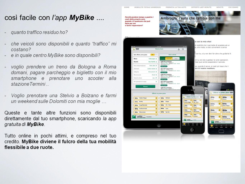 così facile con l'app MyBike ....