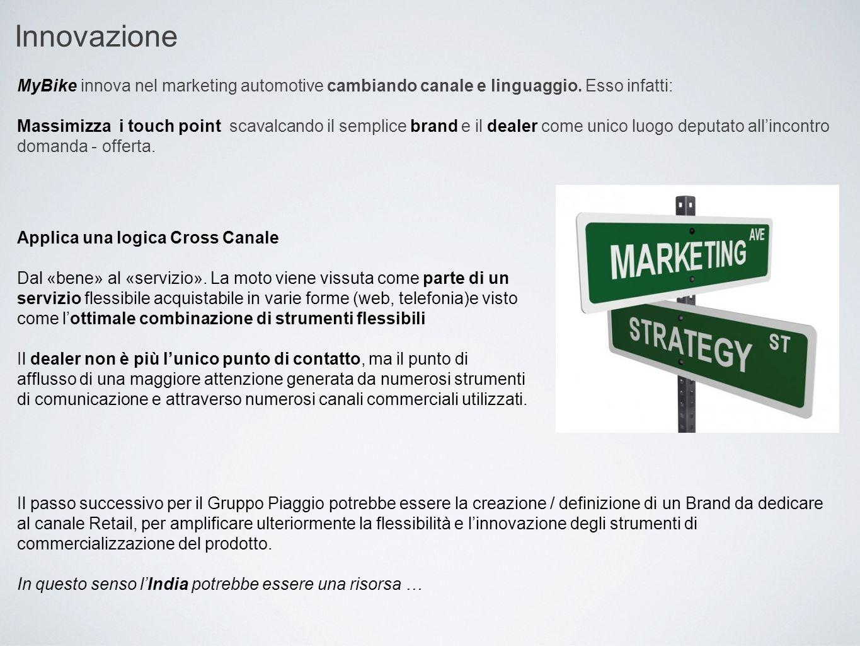 Innovazione MyBike innova nel marketing automotive cambiando canale e linguaggio. Esso infatti: