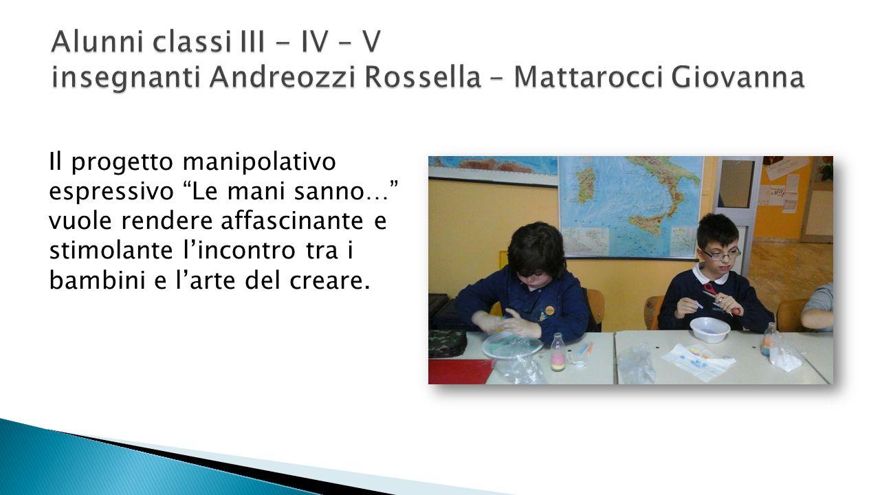 Alunni classi III - IV – V insegnanti Andreozzi Rossella – Mattarocci Giovanna