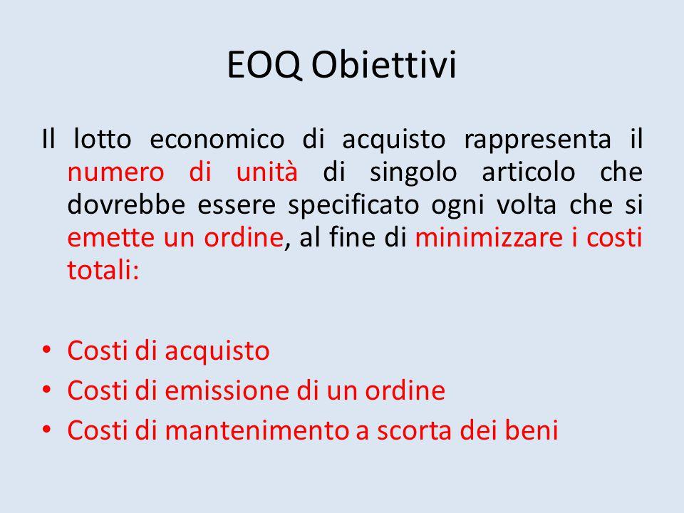 EOQ Obiettivi
