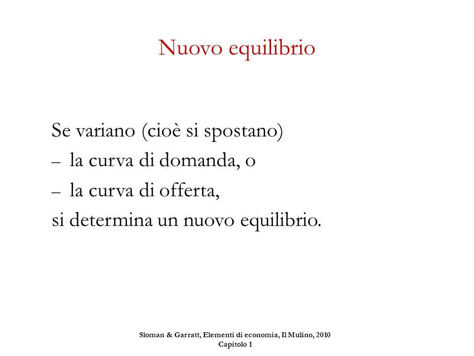 Sloman & Garratt, Elementi di economia, Il Mulino, 2010 Capitolo 1