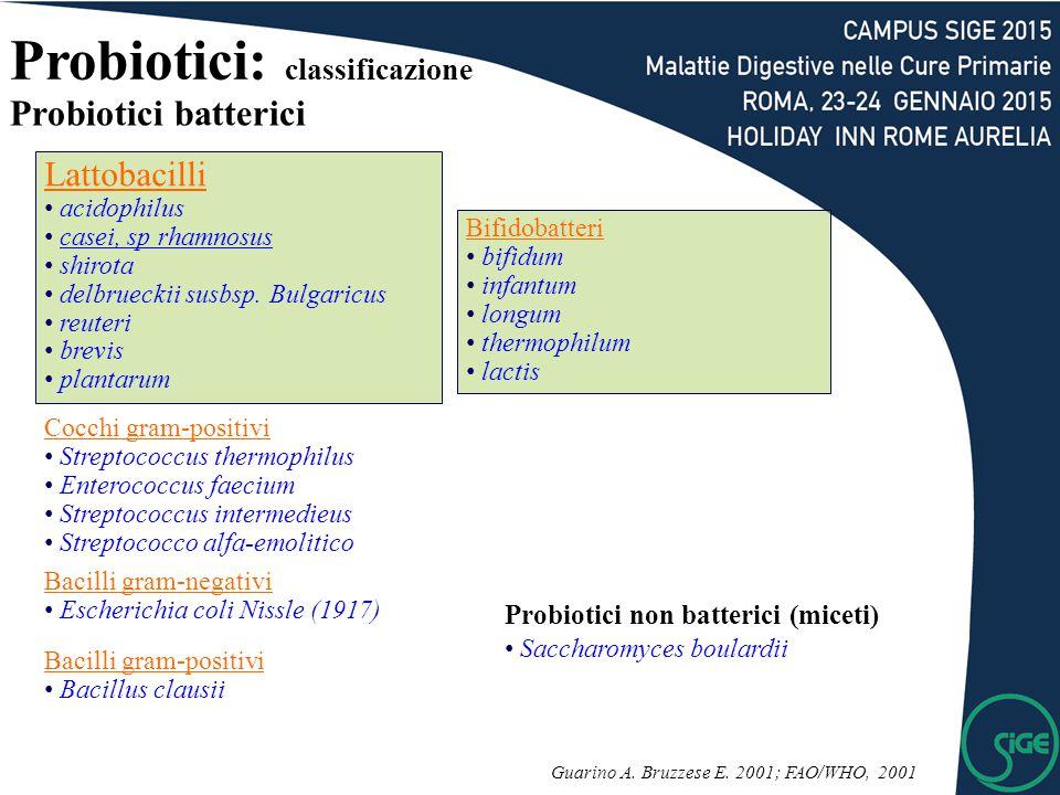 Probiotici: classificazione