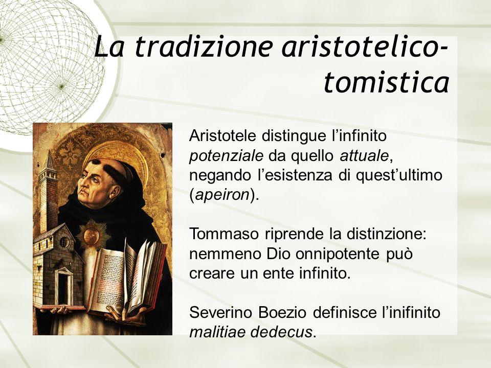La tradizione aristotelico-tomistica