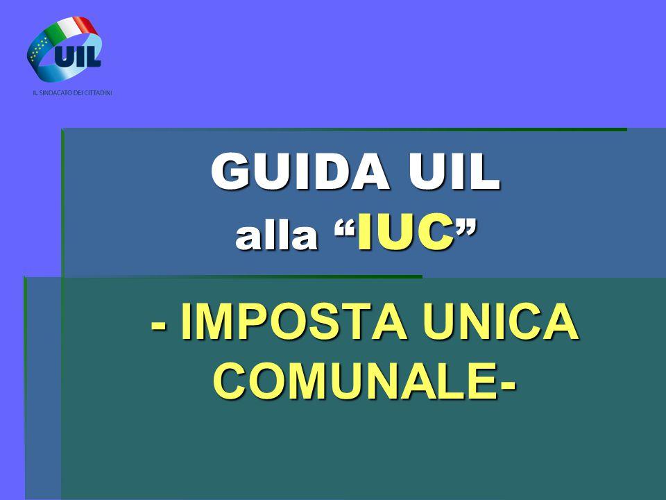 - IMPOSTA UNICA COMUNALE-