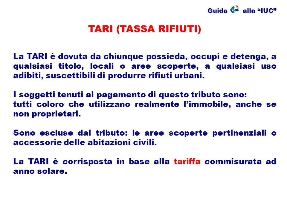 Guida alla IUC TARI (TASSA RIFIUTI)