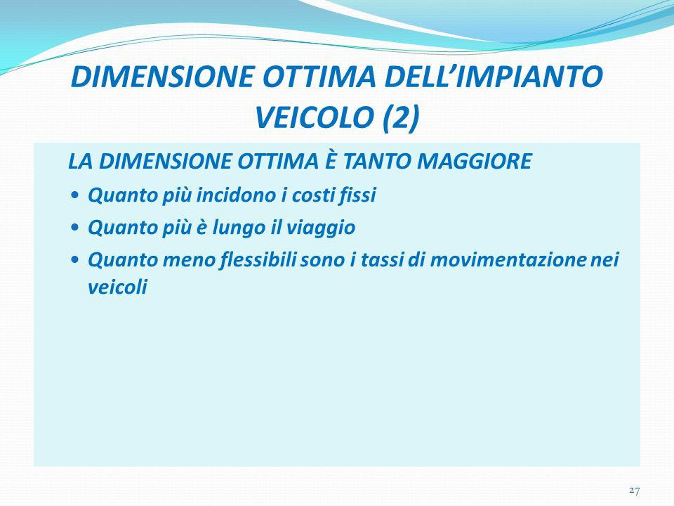 DIMENSIONE OTTIMA DELL'IMPIANTO VEICOLO (2)