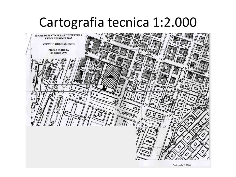 Cartografia tecnica 1:2.000