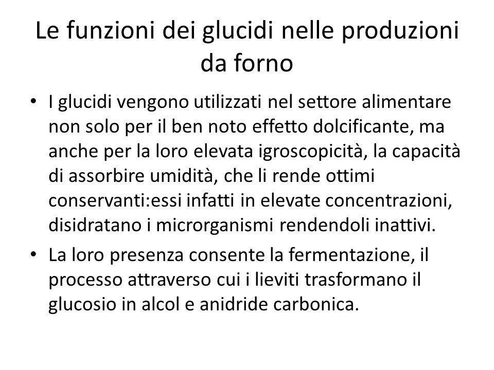 Le funzioni dei glucidi nelle produzioni da forno