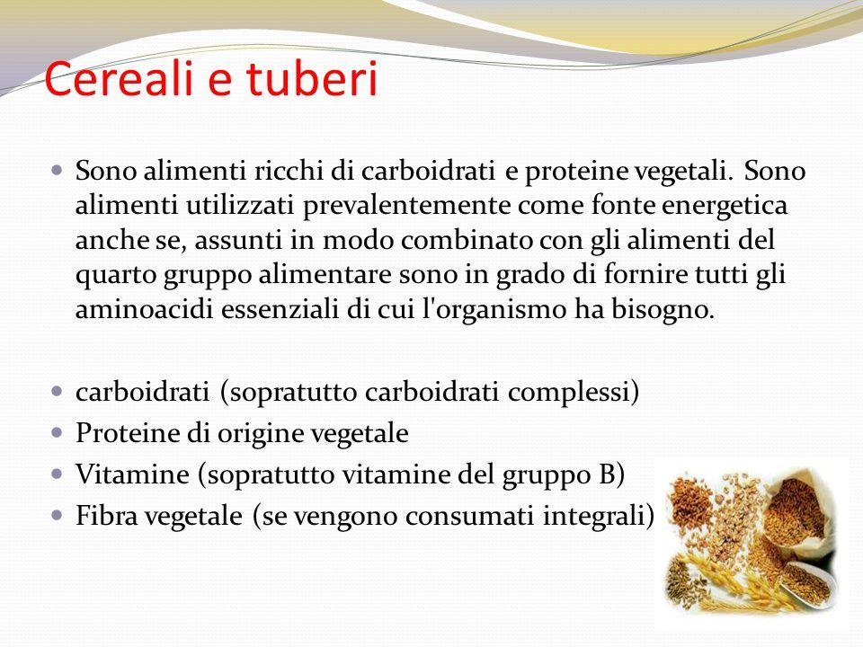 Cereali e tuberi