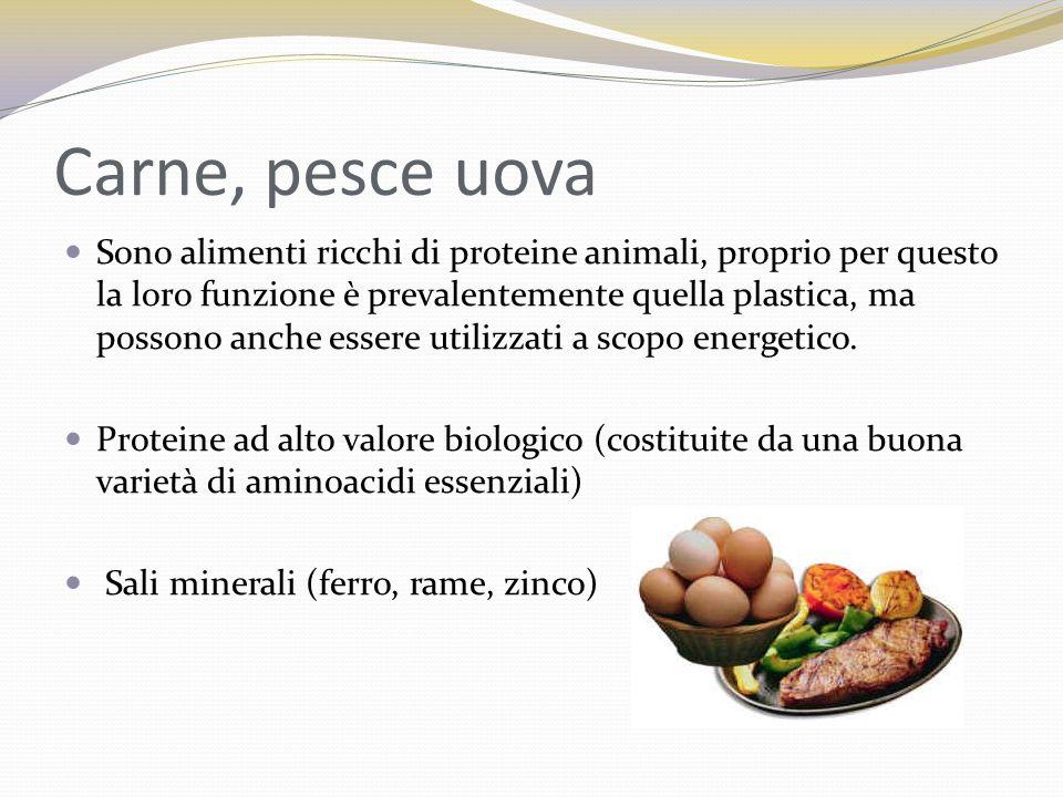 Carne, pesce uova
