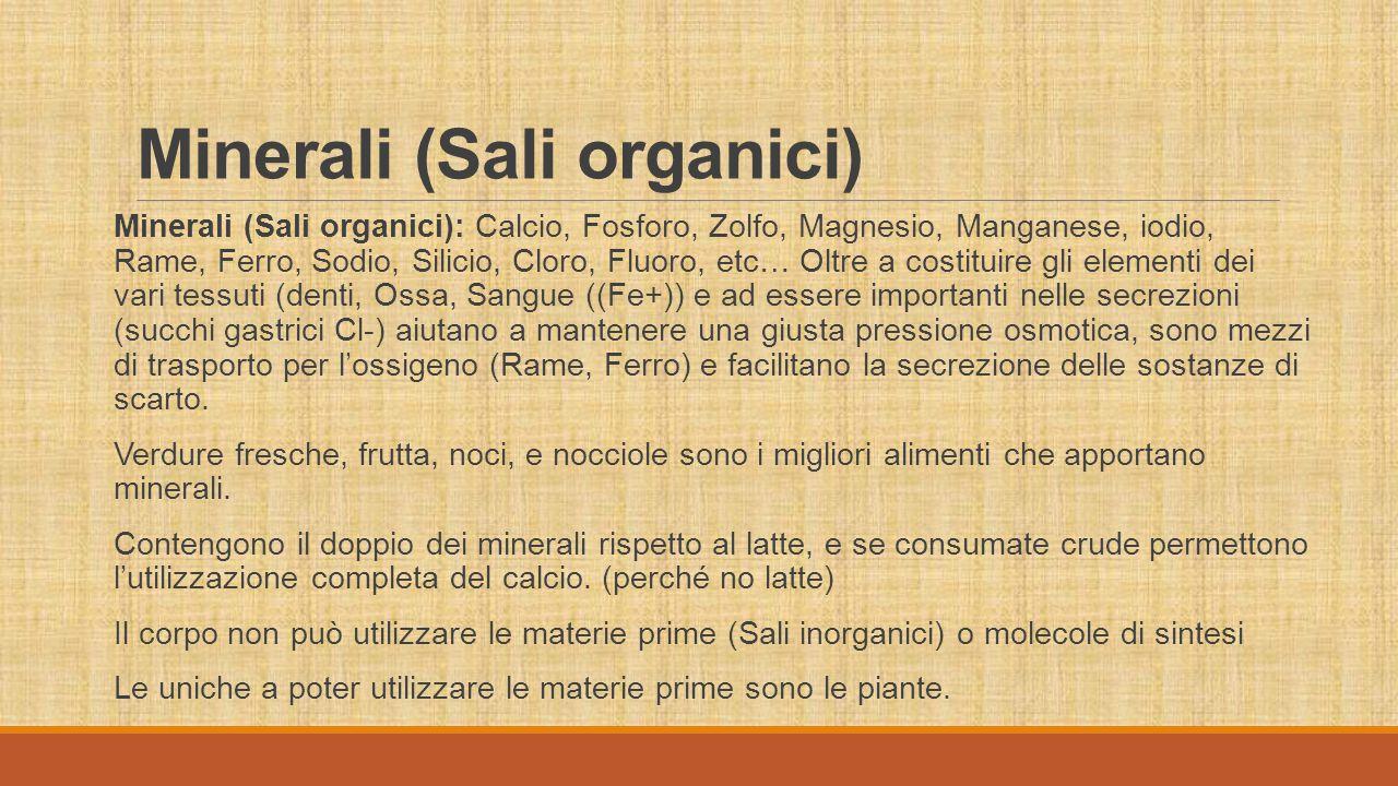 Minerali (Sali organici)