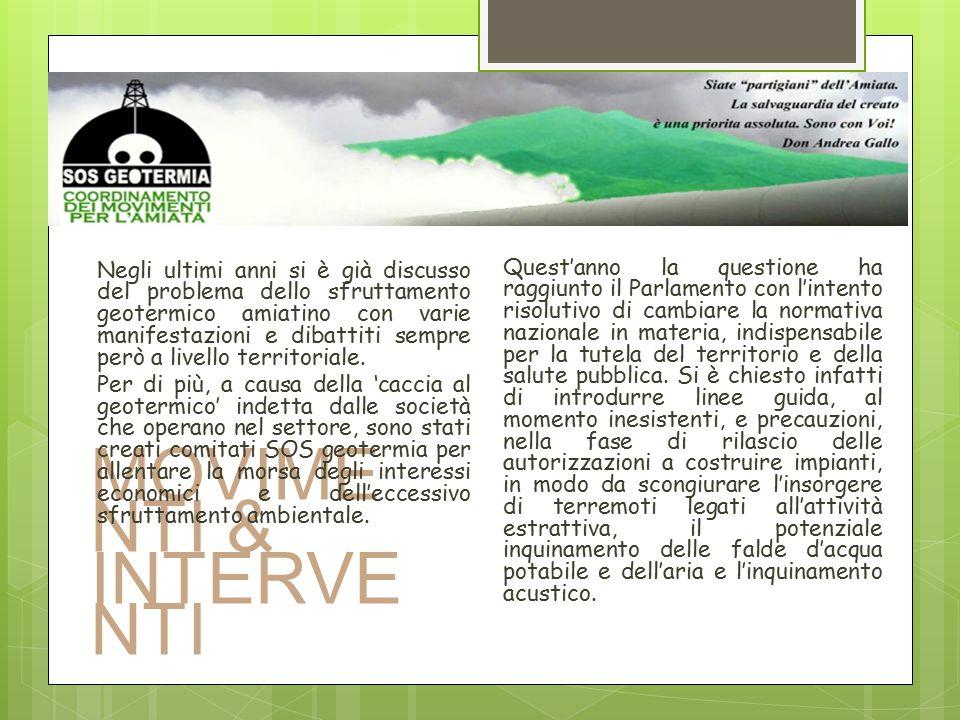 MOVIMENTI & INTERVENTI