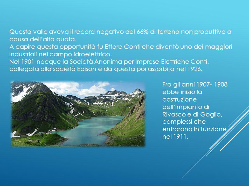 Questa valle aveva il record negativo del 66% di terreno non produttivo a causa dell'alta quota.