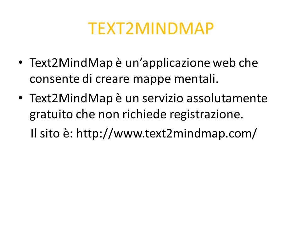 TEXT2MINDMAP Text2MindMap è un'applicazione web che consente di creare mappe mentali.