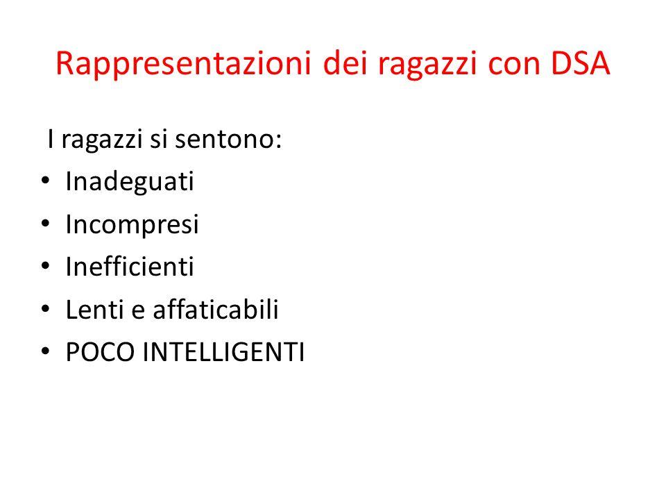 Rappresentazioni dei ragazzi con DSA