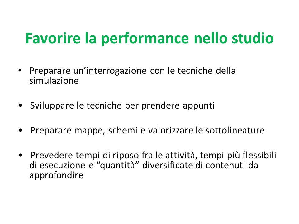 Favorire la performance nello studio