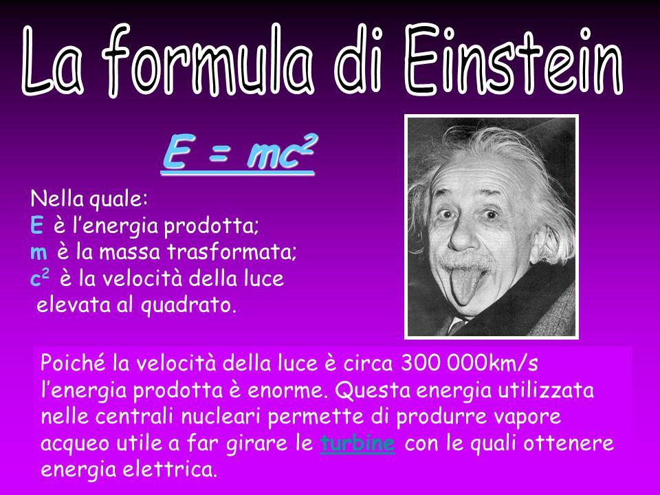 E = mc2 La formula di Einstein