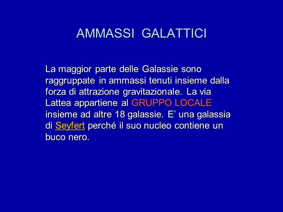 AMMASSI GALATTICI