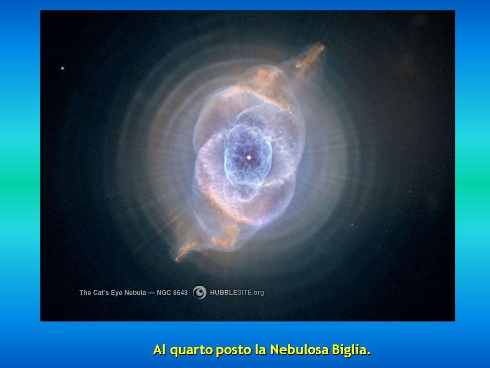 Al quarto posto la Nebulosa Biglia.