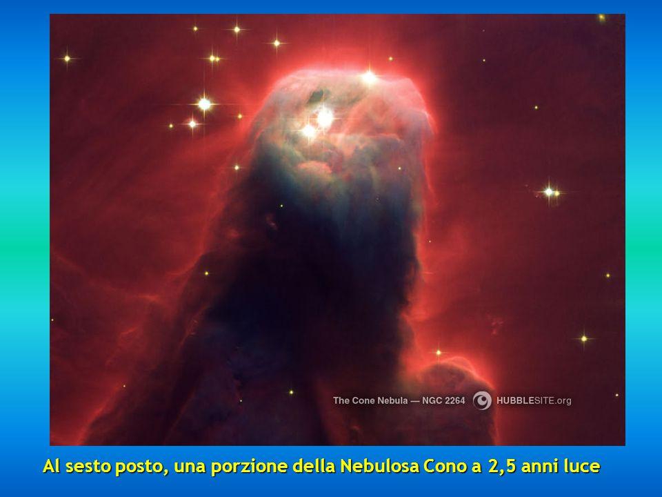 Al sesto posto, una porzione della Nebulosa Cono a 2,5 anni luce